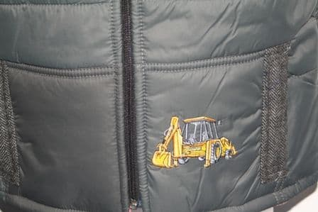 Digger Body Warmer charcoal with tweed shoulders